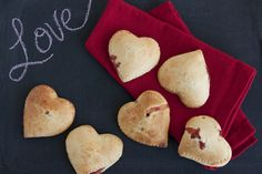 Valentines day sweets - Heart Shaped Strawberry Empanadas