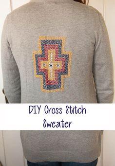 Cross Stitch Sweater - Nearly Crafty