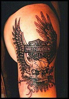 Harley-Davidson Tattoos | #chopperexchange #bikertattoos #bikerlife #livetoride