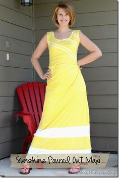 yellow maxi diy tutorial pattern