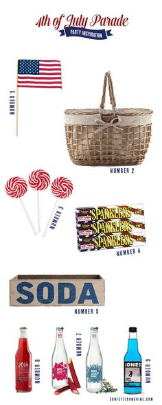4th of July Parade ideas. Such a cute collection for the 4th of July. I love the soda crate!