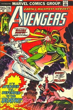 Avengers #116. The Evil Eye Saga. The Silver Surfer vs the Vision. #Avengers #SilverSurfer #Vision