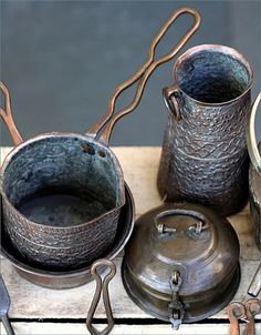 Vintage Indian pots and pans