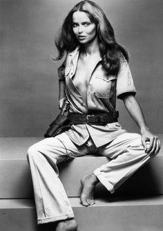 Bond girl Barbara Bach publicity still for 'The Spy Who Loved Me', 1977.