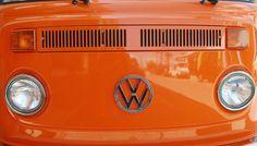 Funky orange Volkswagen