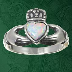 Irish Celtic Claddagh CLADDAUGH Ring by 925silvertreasures on Etsy, $44.99