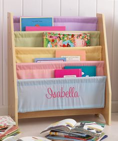 Take a look at this Pastel Personalized Sling Bookshelf on zulily today!