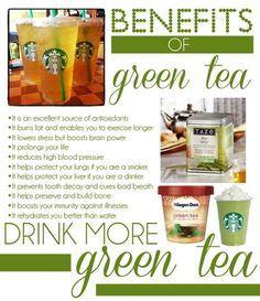 Benefits of Green Tea - Drink More!