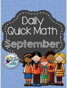 September Quick Math from First Grade Fun Times on TeachersNotebook.com -  (28 pages)  - We use these as weekly quick math practice for morning work.