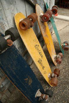 old school longboard
