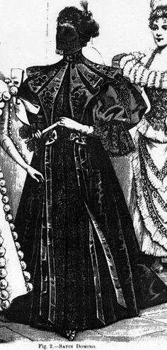 Satin Domino for a masquerade ball, Harper's Bazaar- 1896