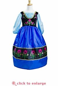PREORDER!!! Frozen Inspired Princess Anna Replica Dress - order now for delivery in July.  The softest, non-itchy machine washable every day dress up costume!  #Frozen #Anna #princess #dressup #costume #party