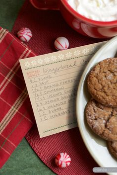 Wood Type Holiday Printables: holiday recipe cards