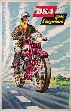 Vintage BSA Motorcycle Ad