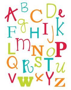 Cute little Preschool Alphabet & Numbers printable (decor)