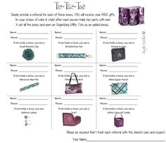 TicTacToe Referral Game ThirtyOne Gifts by PerkyVanilla on Etsy
