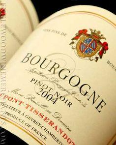 Bourgogne Wines, Pinot Noir.
