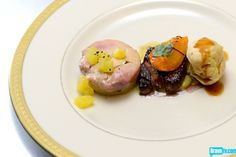 Joshua Valentine's Foie Gras Three Ways: Torchon, Pan-Seared & Profiterole