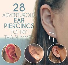 28 Adventurous Ear Piercings - ok not tattoos I know but I really want to get more ear piercings and they're so pretty!! :D