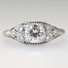 Stunning 1950's Diamond Engagement Ring by YourJewelryFinder, $3350.00