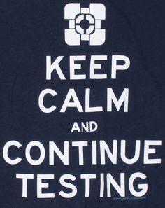 J!NX : Portal 2 Keep Calm Womens Tee - Clothing Inspired by Video Games & Geek Culture