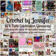 Crochet Patterns by Jennifer: Crochet by Jennifer's 10K Fans Celebration Giveaway