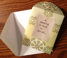 invitations, babi mine, gardens, seeds, shower idea