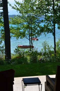 Torch Lake from the back porch of the most amazing home we have ever visited!