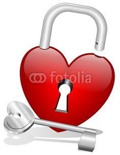 Heart Lock and Key-Vector © bluedarkat