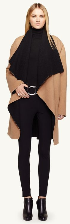 Black Label Double-Faced-Wool Malorie Coat
