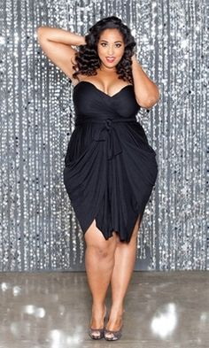 Drape and Shape! A dress with strategic draping can accentuate your curves and minimize your midsection.