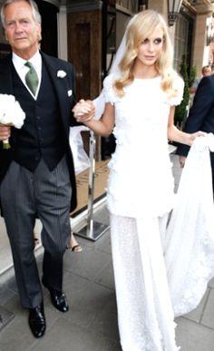 Poppy Delevingne #wedding #weddingdress
