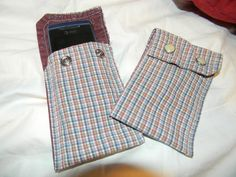 i made these out of old man shirt cuffs, I have one for my phone, ipod touch and nano.