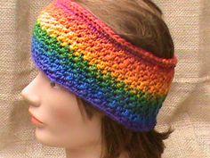 Crochet Women's Rainbow Head Wrap by CrochetCreationsbyLP on Etsy