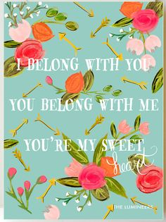 I Belong with You/Lumineers 11 x 14 Print in by firstsnowfall