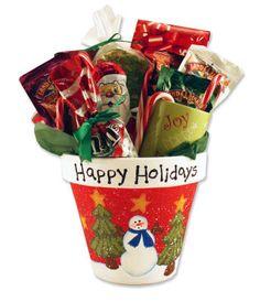 Christmas gift pot