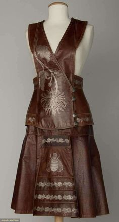 Augusta Auctions, April 17, 2013 - NYC: Bill Gibb Leather Outfit, C. 1970