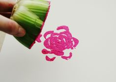 DIY celery flower art