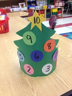 fun hat for numbers 0-10 with a holiday twist!