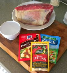 3 Envelope Pot Roast/brown gravy -ranch -zesty italian dressing dry mix.***********
