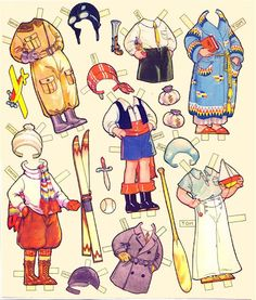 Paper Doll Playmates - 20 Dolls