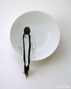 embroidered porcelain (!)