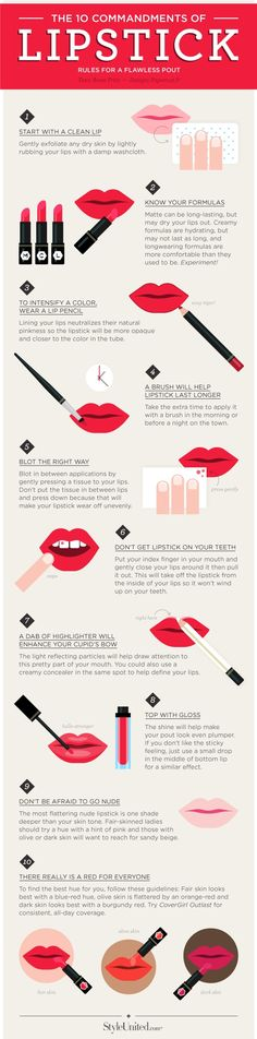 The 10 Commandments of Lipstick