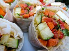 rice wrap recipes, rice wraps, thai rice, tofu, food, pad thai, yummi, rolls, thai wrap