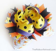 How to Make Bows: Twisted Boutique, Pinwheel, Surround Loops - and how to stack them! {The Ribbon Retreat Blog}  Includes instruction for easy to make cardboard template.  Bow Dazzling Volunteers, you can omit the stiffener that is mentioned in the tutorial.