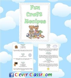32 Fun Craft Recipes - PDF file - Revised10 pages of craft recipes.This is a sensational resource for any early childhood setting.A col...