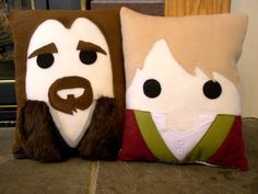 The Hobbit pillow, Bilbo, Thorin, Gandalf, throw pillow, Decorative pillow Lord of the Rings on Etsy, $30.00