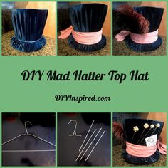 DIY Mad Hatter Top hats (for the boys) & Queen of Hearts crown (for the girls)