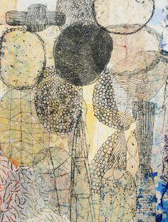 Eva Isaksen: Sphere 2008 collage.