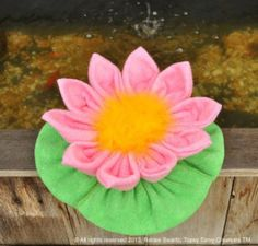 Baby Washcloth Water Lily | Sewing Patttern | YouCanMakeThis.com